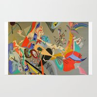 kandinsky Area & Throw Rugs featuring Kandinsky Composition Study by Andrew Sherman