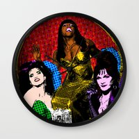rupaul Wall Clocks featuring To Wong Foo Thanks for Everything Julie Newmar  - Pop Art Print by Binge Designs Homeware