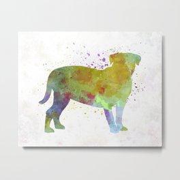 Dogo de Bordeaux in watercolor Metal Print