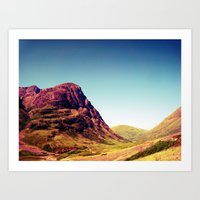 scotland Art Prints featuring Glencoe, Scotland. by zenitt