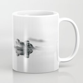 Pattern, Frog in the water reflection in black and white Coffee Mug