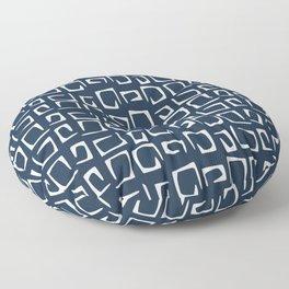 Navy blue pattern Floor Pillow