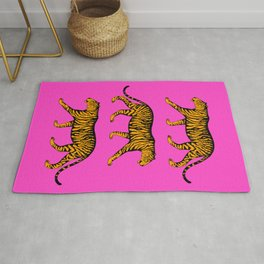 Tigers (Magenta and Marigold) Rug