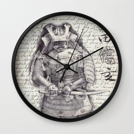 Samurai Observational Drawing Wall Clock