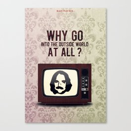 Punk Quotes Poster Serie / Black Flag Said : TV Party! Canvas Print
