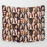 wallpaper Wall Tapestries featuring LDR Wallpaper by Daniel Cash