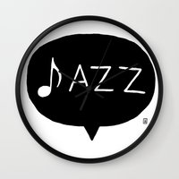jazz Wall Clocks featuring Jazz by Abel Fdez