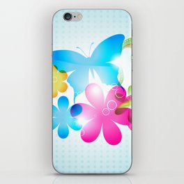 Butterfly Colorful Flowers Paisley And Butterflies iPhone Skin