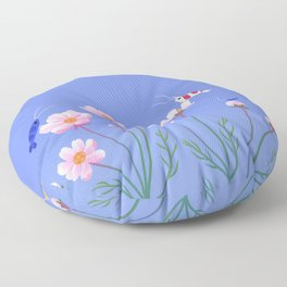 Cosmos and shrimp Floor Pillow