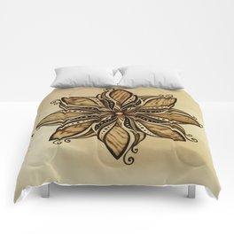 Happiness and peacefull mandala of wood Comforters