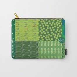 Patchwork made out of eight author images in green colors Carry-All Pouch