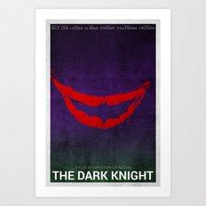 The Dark Knight (Alternative Poster) Art Print