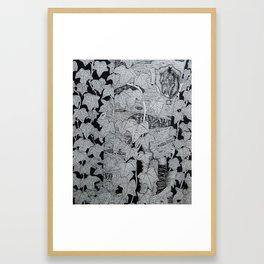English Ivy on Paper Birch Framed Art Print