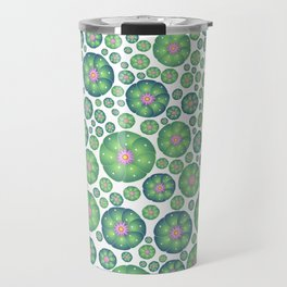 Peyote cactus plant pattern illustration Travel Mug