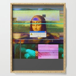 Mona Lisa _corrupt Serving Tray