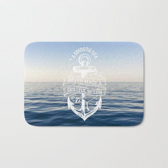Sea Quote Bath Mat