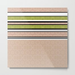 Multi-colored striped Metal Print