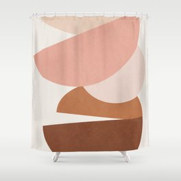 Abstract Stack II Shower Curtain