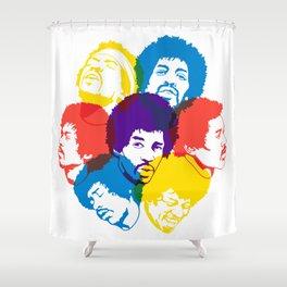 Hendrix Overprint Shower Curtain