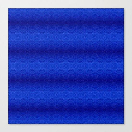 Blue Tiki Pattern Canvas Print