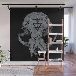 Cat Skull Wall Mural
