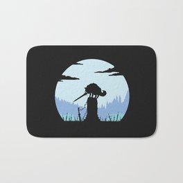 Grey Wolf Sif (Dark Souls) - in black Bath Mat
