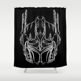 Pinstripe Prime Shower Curtain