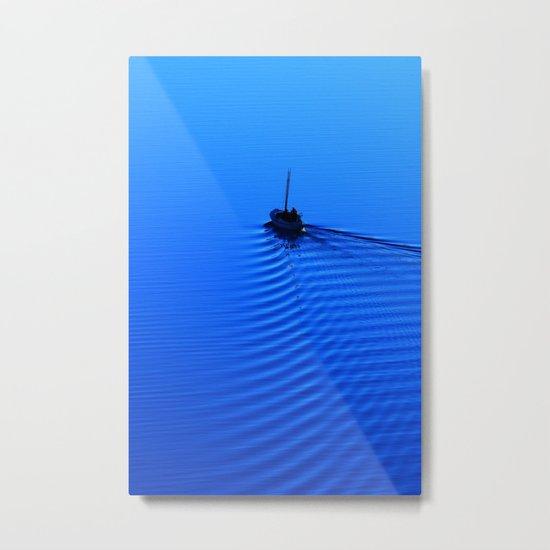 Vibrant Sailing to the Blues Metal Print
