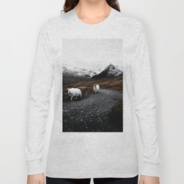 SHEEP - MOUNTAINS - SNOW - ROAD - PHOTOGRAPHY - FUNNY Long Sleeve T-shirt