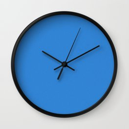 Dodger Blue Saturated Pixel Dust Wall Clock