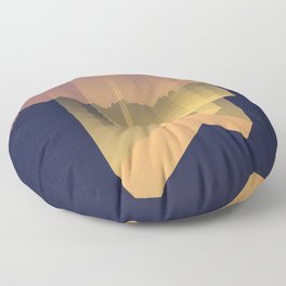 the 4th canyon Floor Pillow