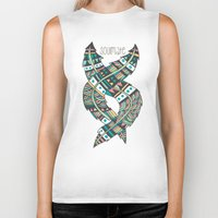 feathers Biker Tanks featuring Soulmate Feathers by Pom Graphic Design