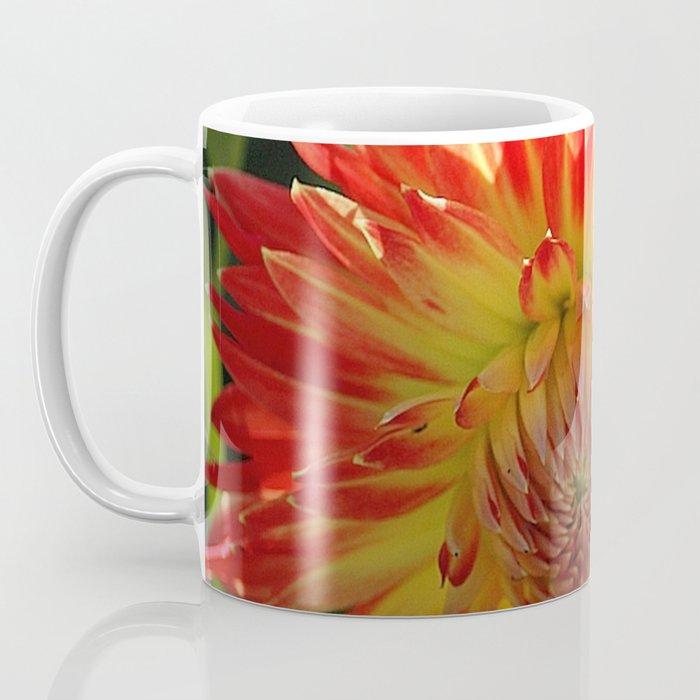Fire In The Sky dahlia flower 096 Coffee Mug