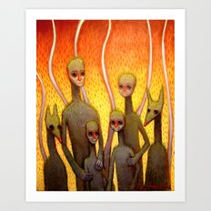Fire Family Art Print