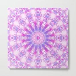 Pale Pink, Magenta, and Purple Mandala Metal Print