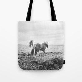 Modern Animal Print, Icelandic Horses Tote Bag