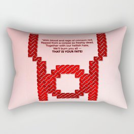 Red Lantern Symbol & Oath Rectangular Pillow