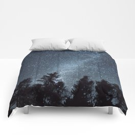 Milky Way in the Woods | Nature and Landscape Photography Comforters