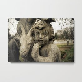 Putto and Goat Metal Print