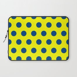 maize and blue polka dots Laptop Sleeve