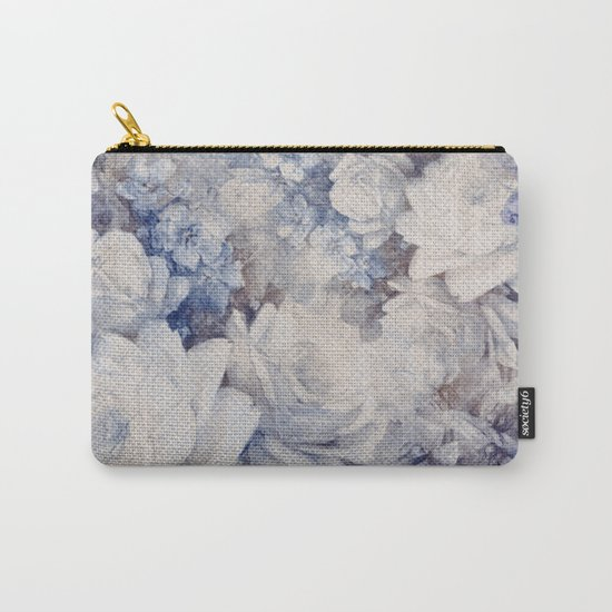 blue vintage floral Carry-All Pouch