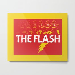 Flash in the Pan Metal Print