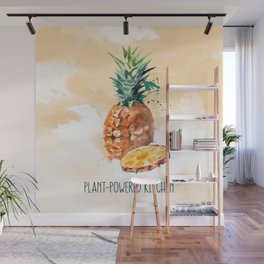 Pineapple in Water Color Plant-Powered Kitchen Wall Mural