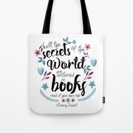 Book Secrets (Lemony Snicket Quote) Tote Bag