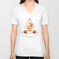 spiritual V-neck T-shirts featuring Spiritual Retreat by adho1982