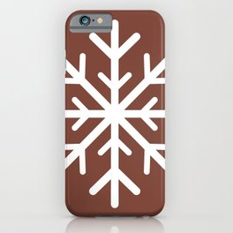 Snowflake (White & Brown) iPhone Case