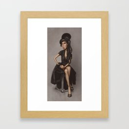 Back to Black Framed Art Print