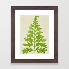 Lime Fern Framed Art Print