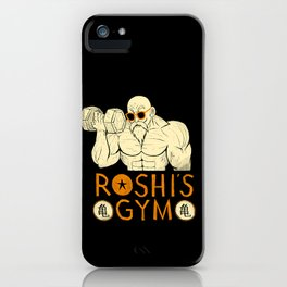 roshi's gym iPhone Case