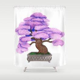 Violet Bonsai Shower Curtain